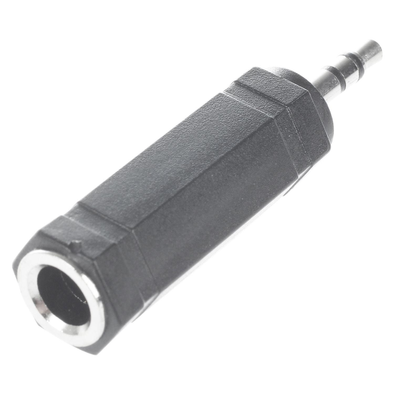 TOOGOO(R) 6.35mm 1/4'' Female Socket to 3.5mm 1/8'' Male Plug Audio Stereo Adapter Converter Black