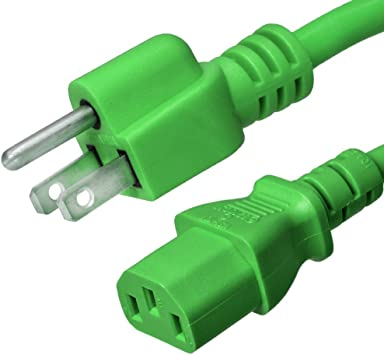 15ft long 14awg//gauge 15amp Heavy Duty Power Cord//Cable//Wire IEC320C13~NEMA5-15P