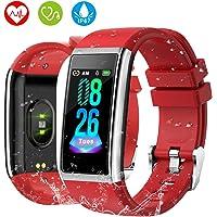 HOLALEI Fitness Armband, 1,14'' Bildschirm Smartwatch mit Pulsmesser Blutdruckmessung IP67 Fitness Tracker Aktivitätstracker Schrittzähler Uhr für Damen Herren Anruf SMS Beachten für iPhone Android