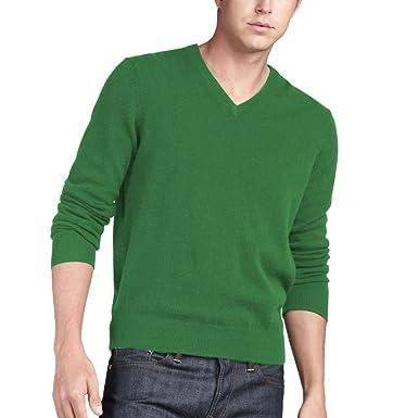 Parisbonbon Men\u0027s 100% Cashmere V,Neck Sweater Amazon.co.uk