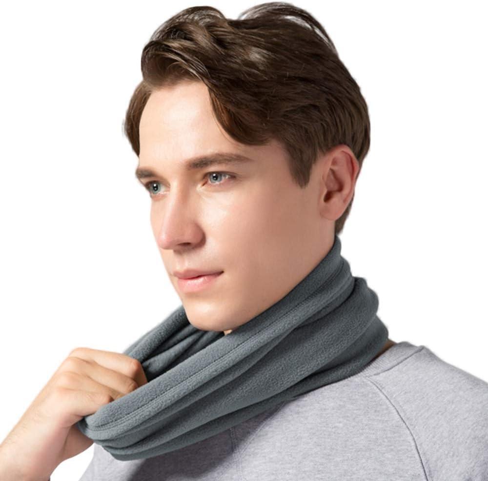 OKIDSO Hommes femmes hiver boucle /écharpe unisexe chaud cou cache-cou avec cordon tube /écharpe