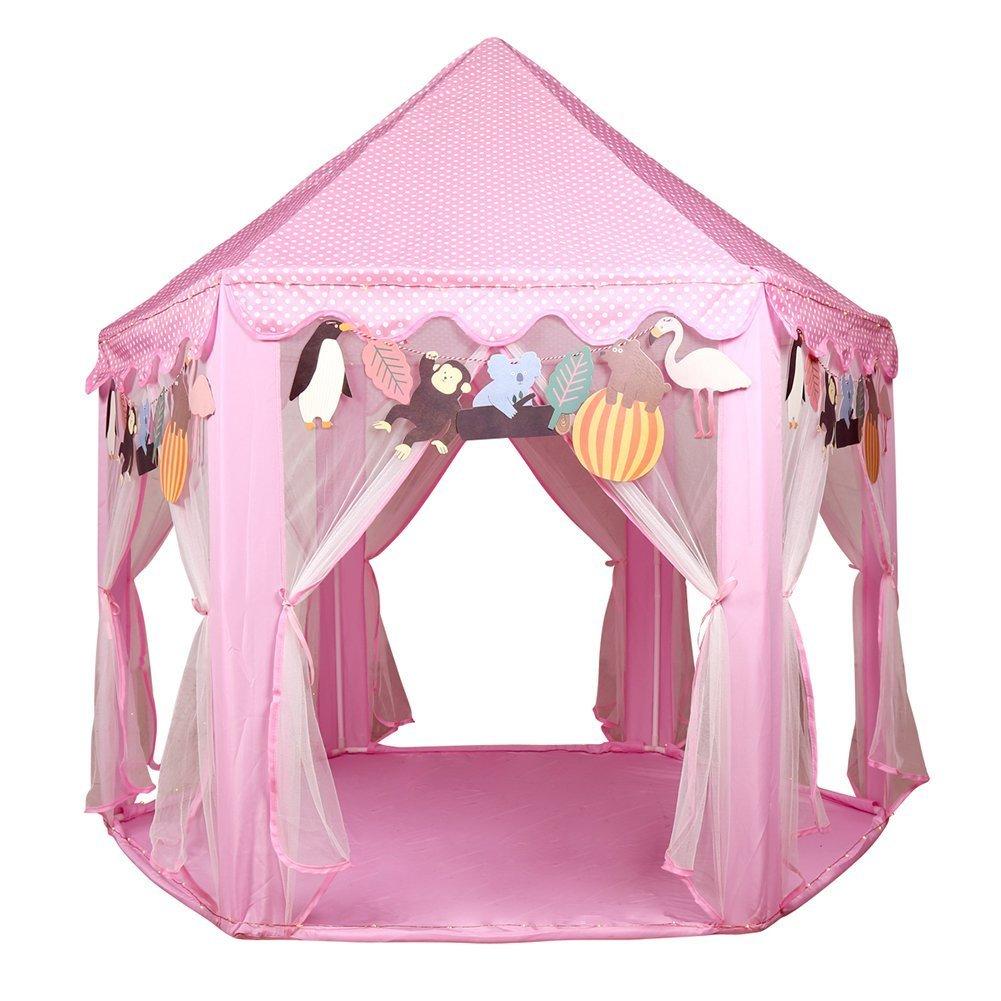 Kids Princess Castle Play Tent - UTH TENT Hexagon Play Tent For Girls Indoor Outdoor