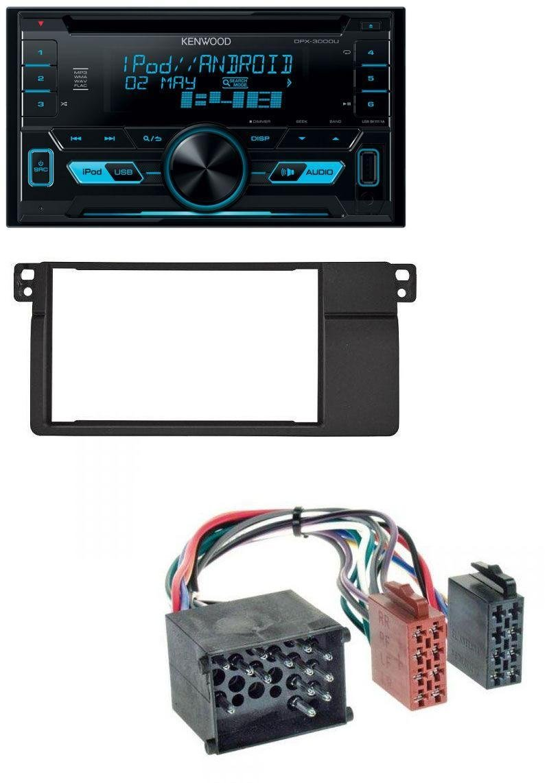 caraudio24 Kenwood DPX-3000U 2DIN USB Aux MP3 CD Autoradio fü r BMW 3er E46 Rundpin Groß em Navi