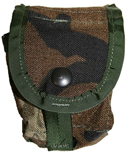 Military Outdoor Clothing Previously Issued US GI Woodland Camo MOLLE Grenade Pouch (2 per ()