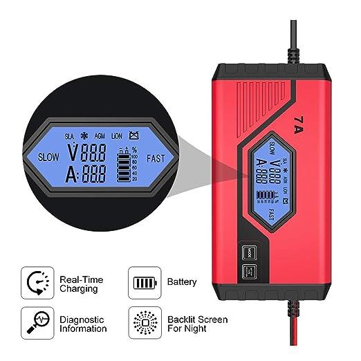HWUKONG Cargador de batería del automóvil, Cargador ...