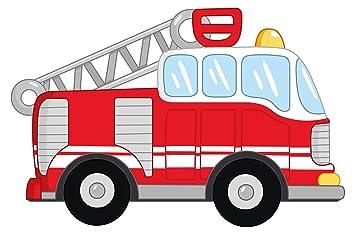 Wandtattoo Feuerwehr Teddybär kinderzimmer Aufkleber Autos Kinderzimmer Baby