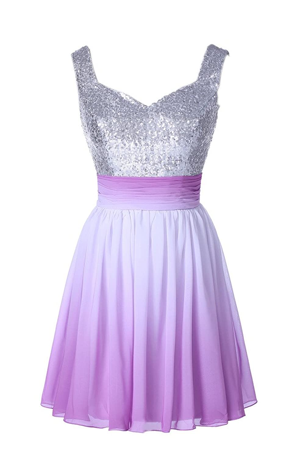 Gorgeous Bride Stunning Sequins Short Chiffon Homecoming Prom Party Dress Hot New