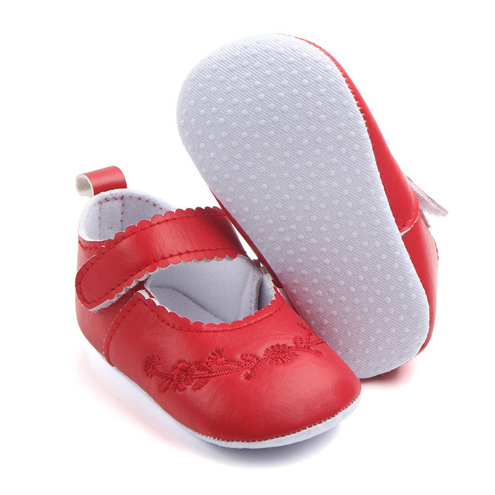 ❤️ Mealeaf ❤️ Newborn Baby Fashion Sneaker Girls Stitchwork Anti-Slip Single Shoes Sneaker (3M-12M)