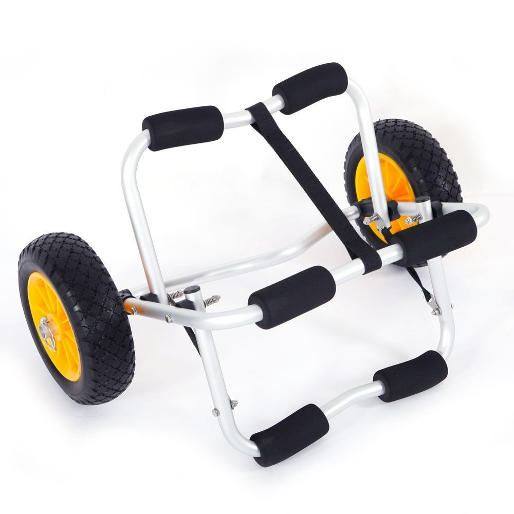 Cirocco Jon Boat Kayak Canoe Carrier Dolly Tote Trolley Transport Cart Trailer Gear w/No Flat Airless Tire Wheel | Heavy Duty Aluminum Alloy Construct Durable Corrosion Resistance | For Car Truck Van by Cirocco