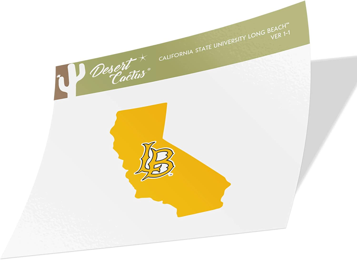 California Cal State University Long Beach CSULB 49ers Dirtbags NCAA Vinyl Decal Laptop Water Bottle Car Scrapbook (State Boarder Sticker)
