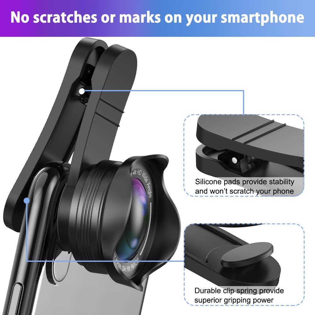 Samsung Galaxy Pixel 2 in 1 Lens Kit 0.6X Wide Angle Lens Phone-Camera-Lens-iPhone-Lens 20X Macro Lens for iPhone Android