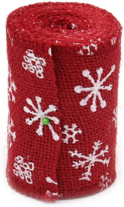 2m white//red ribbon lace X mas crafts Christmas Gift Wrapping Moose Novelty