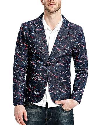 HX fashion Blazer Casual para Hombre Blazer De Un Botón Abrigo ...