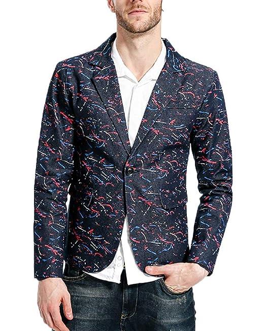 Laisla fashion Blazer Casual para Hombre Blazer De Un Botón Abrigo Chaqueta Clásico para Traje Corto Blazer Slim Fit para Hombre De Hombre Casual Chicos: ...