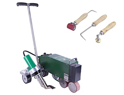 TPO PVC Roof Waterproofing Membrane Hot Air Welding Machine with Blushless Air Blower - - Amazon.com