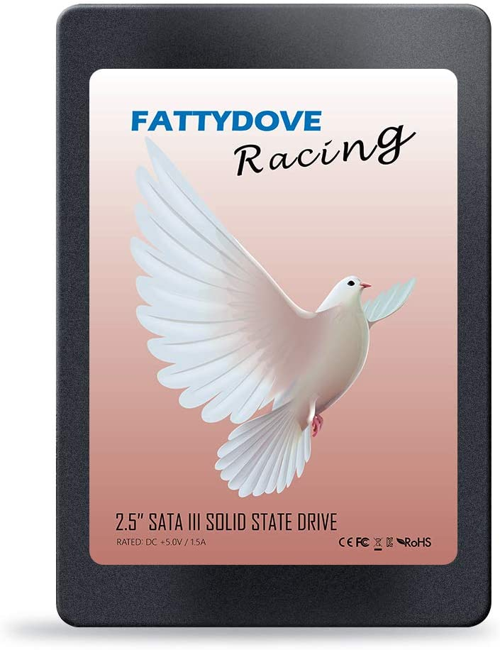 FATTYDOVE 480GB SATA 3 2.5'' Internal SSD Computer Hard Drives Internal Stable high Performance Solid State Drives for PC/Laptop (480GB SSD Drive)