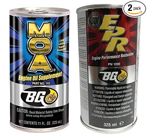 Bg Products MOA & EPR Motor Oil Additive Lubrication Supplement Engine Restore