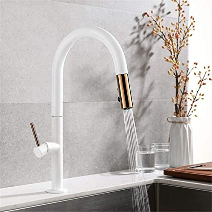 Fzhlr Fashionable Blackwhite Rose Gold Kitchen Faucet Pull