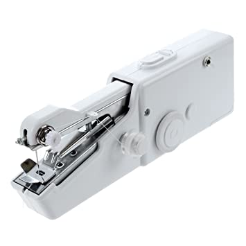 TOOGOO(R) Estrella principal BARATO CONVENIENTE Nuevo Mini maquina de coser de mano portatil de mesa escritorio Casa Viaje: Amazon.es: Hogar