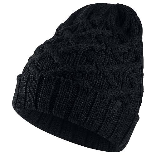 f0f0bda19fc ... top quality jordan mens cable knit cap black one size 74a1d ca117