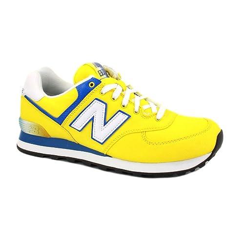 new balance 574 hombres amarilla