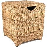 sitztruhe hocker aus wasserhyazinthe sitzbank sitztruhe aufbewahrungsbox sitzhocker mit kissen. Black Bedroom Furniture Sets. Home Design Ideas