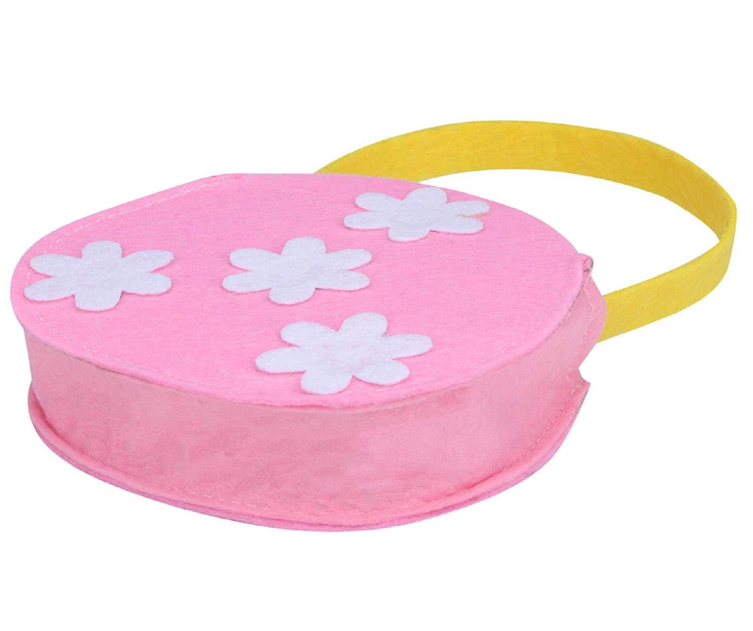 Vertily Easter Bag,Easter Small Flower Gift Bag Candy Bag Creative Present Home Accessory Easter Basket Tote Handbag Blank Bag