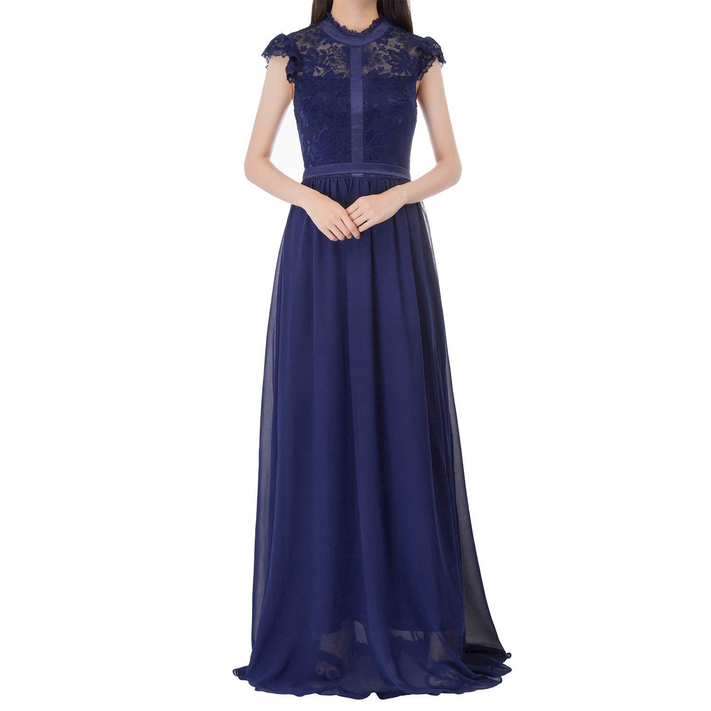 Kate Kasin Womens Floral Lace /& Chiffon Bridesmaid Dress Wedding Party Dress KK1085