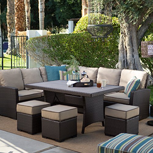 dark brown modern all weather wicker aluminum sofa