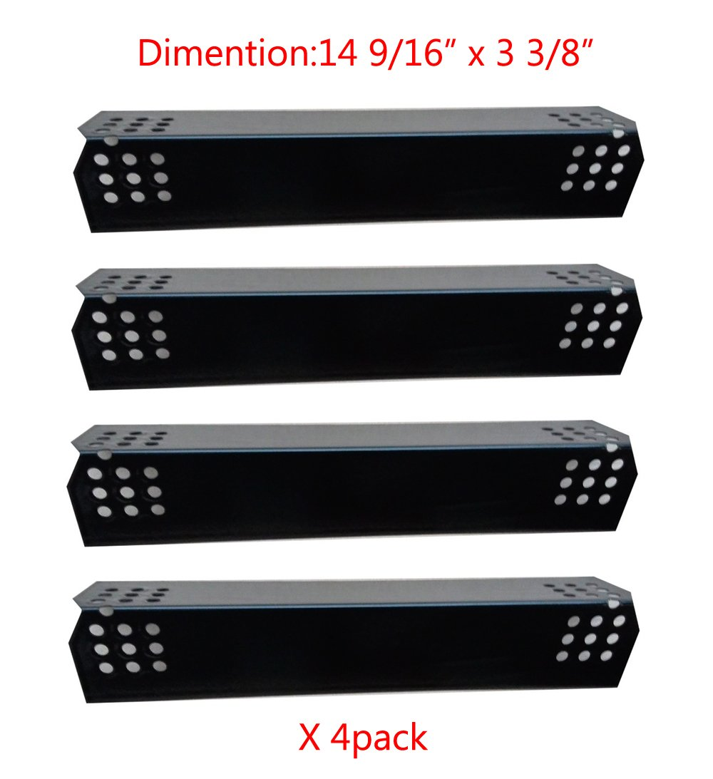 97371(4-Pack) Porcelain Steel Heat Plate Replacement For Select Grill Master .. 2