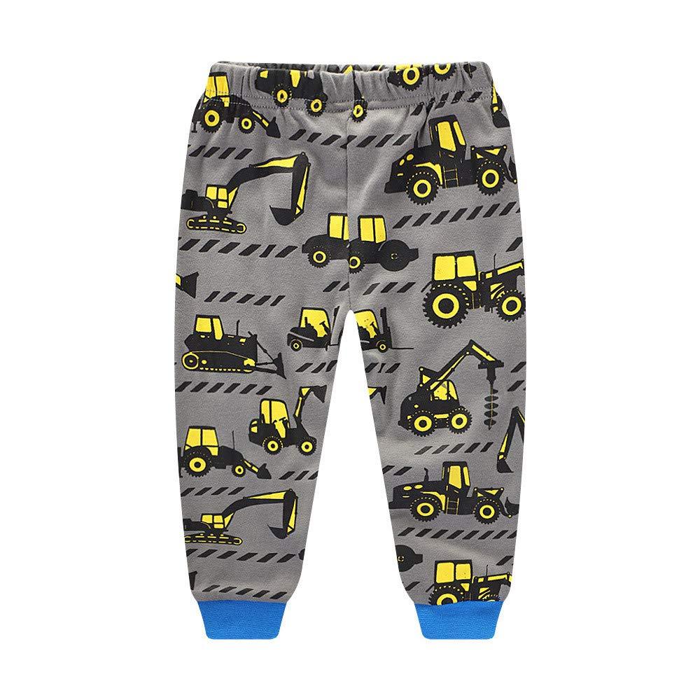 H.eternal Boys Pajamas Kids Cotton Toddler Sleepwear Truck Sets Christmas Halloween Nightwear Winter Long Sleeve Tops+Pants Outfits Clothes Sets