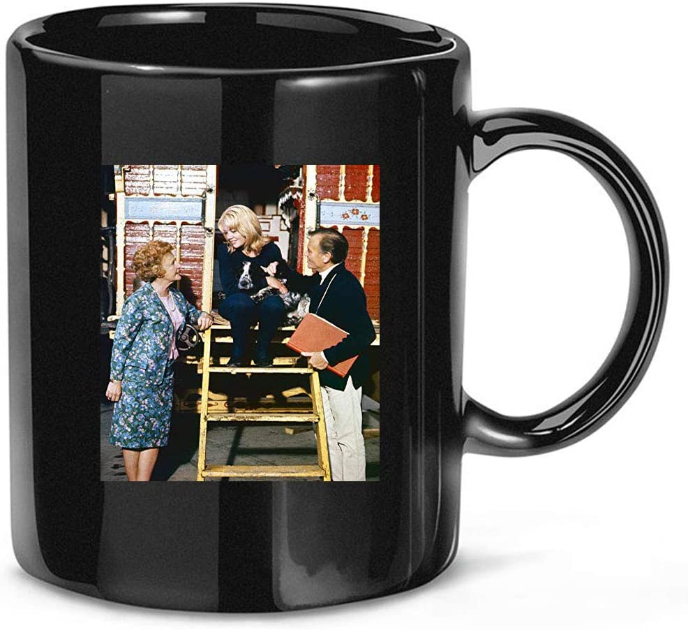 #Hayley #Mills #and #John #Mills Family Photo On Set Coffee Mug for Women and Men Tea Cups