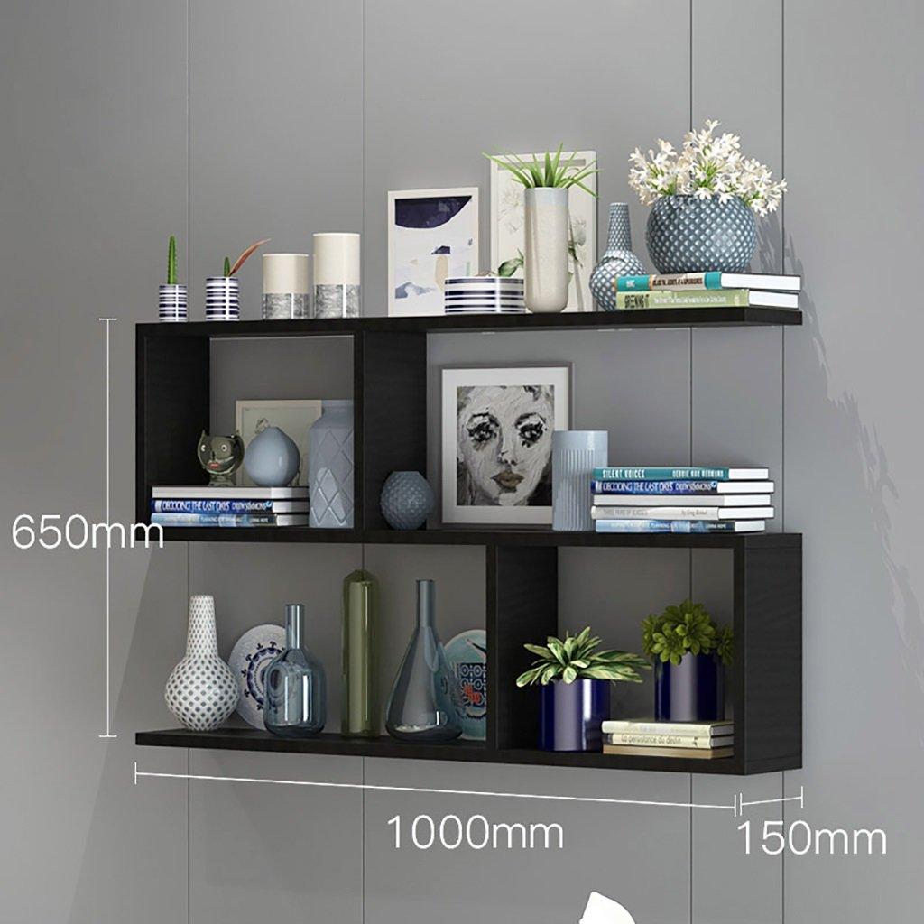 壁の本棚 本棚の壁の棚、壁のキャビネット、木製の仕切り、パンチフリーのベッドルームの壁掛けラック、シンプルでモダンな 花の棚 (色 : B, サイズ さいず : 100 * 15 * 65cm) B07FCW88YY 100*15*65cm|B B 100*15*65cm