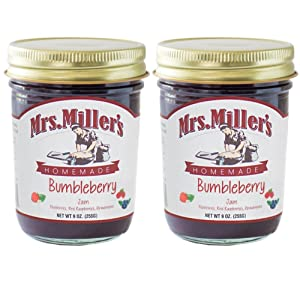 Mrs. Miller's Amish Homemade Bumbleberry Jam 9 Ounces - Pack of 2