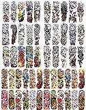 50 sheets wholesale extra large fake tattoo extra long 18'' full arm body tattoos temporary