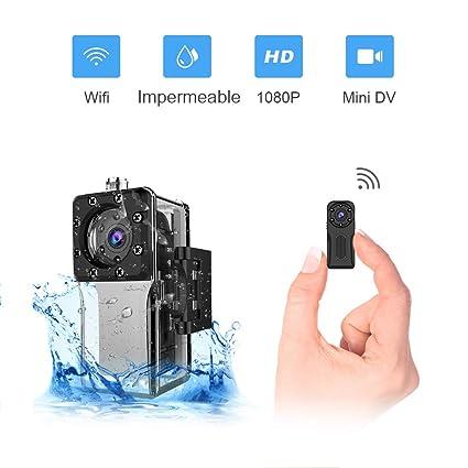 Mini Camara Espia Oculta WiFi Acuatica, NIYPS 1080P Full HD Cámara Vigilancia Portátil Secreta Compacta