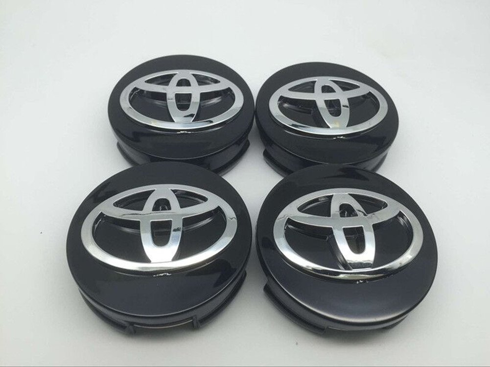 Automelody 62mm 4pcs A Set Of Wheel Center Caps Hubcap For Toyota Camry Crown Corolla MARK X Highlander RAV4 (Type2)
