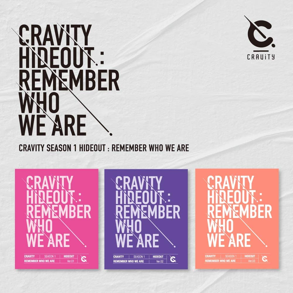 CRAVITY SEASON1. Hideout: Remember Who We Are Album+Folded Poster 1 Version Starship Entertainment CRAVITY