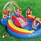 INTEX Inflatable Kids Rainbow Ring Water Play