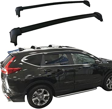 Amazon Com Ants Part For 2017 2020 Honda Cr V Crv Roof Rack Cross Bars Top Rail Luggage Carrier Pair Set Black Need Factory Side Rails Automotive