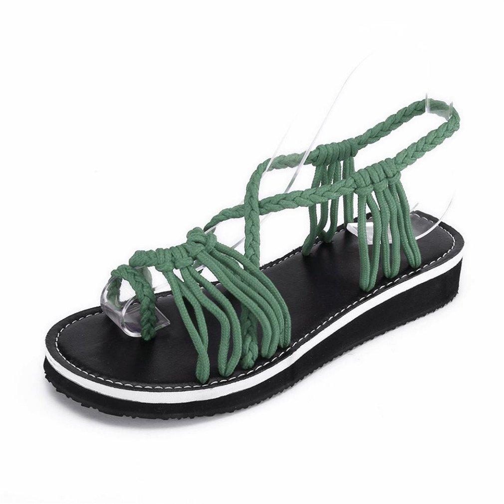 ELECTRI Chaussures à Vert Talons Femme Sandales,Lady Chaussures 19810 Sandales Chaussures de Plein Air Perlé Bouche de Poisson Pente Tongs Talons Hauts Bout Ouvert Été Pente Sexy Vert 1 f0ee282 - conorscully.space