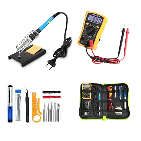 Kit del soldador, HomeYoo Soldador eléctrico de Estaño, 60W 220V-240V Temperatura Ajustable