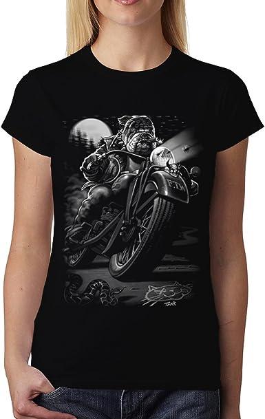 Motocyclette Classique Femme T-shirt XS-3XL Nouveauté
