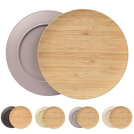 Sustainable plates set from Kaufdichgrün I childrenu0027s plates c&ing plates wood plates cake plates food plates  sc 1 st  Amazon UK & Sustainable plates set from Kaufdichgrün I childrenu0027s plates camping ...