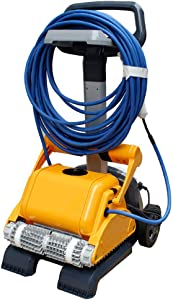 AHELT-J Automatic Robotic Pool, Vacuum Cleaner Automatic Cleaning Equipment Swimming Pool Robot 18 Meters Cable Professional Cleaner Equipment,A