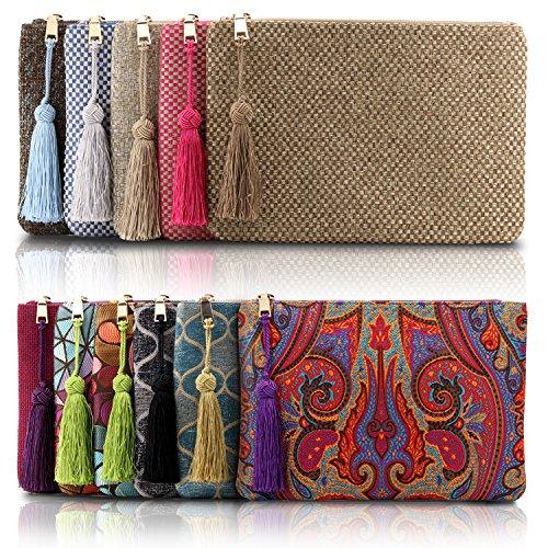 Multiple Slots Cards Bohemian Purse Otto Money Slim Knitting Smartphone Women��s Ultra Pattern Designer Clutch XWRf1q