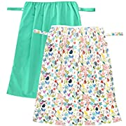 Wegreeco Reusable Diaper Pail Liner for Cloth Diaper,Laundry,Kitchen Garbage Cans(2 Pack, Jade, Camellia)