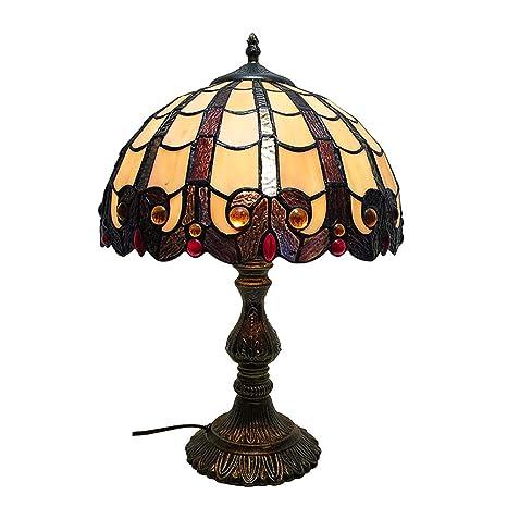 Amazon.com: Lámpara de mesa, estilo Tiffany mini, con patrón ...