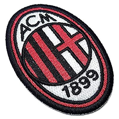 AC Milan Shield Football Soccer Futbol Embroidered Patch Emblem Tag Iron or Sew Size 2.16 ? 3.34 in.