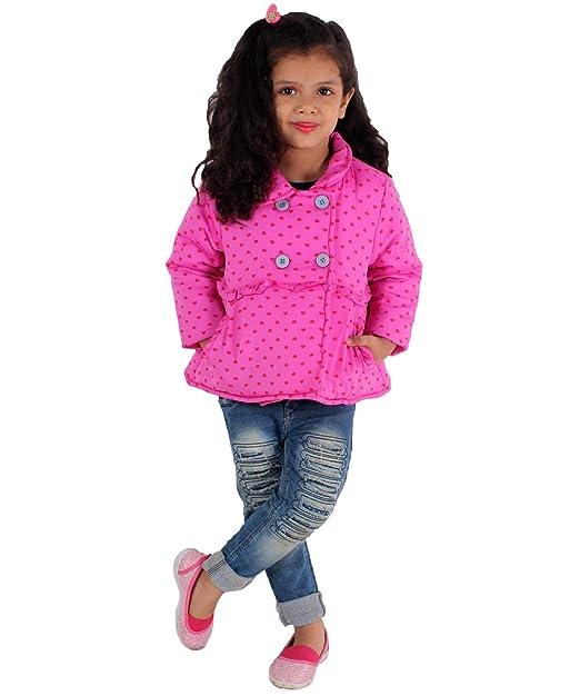 219255559 KidsDew Cute Pink Baby Girls Jackets for Winter Baby Fancy Jacket ...